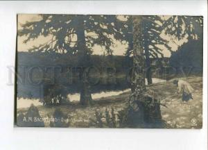 262499 RUSSIA Vasnetsov lake 1915 year RPPC St.Petersburg