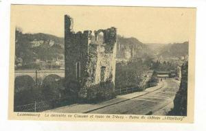 La Descente de Clausen et Route de Treves, Ruine du Chateau  Lutzelburg , Lux...