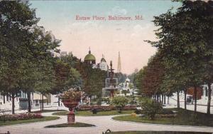 Maryland Baltimore Eutaw Place 1912
