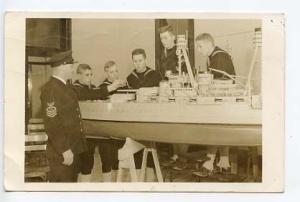 Great Lakes IL US Navy Model Ship Training 1942 RPPC Real Photo Postcard