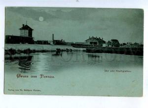 190847 ESTONIA GRUSS aus PERNAU MOONLIGHT Vintage postcard