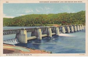 Pennsylvania Montgomert Government Lock & Dam On Ohio River Between Midla...