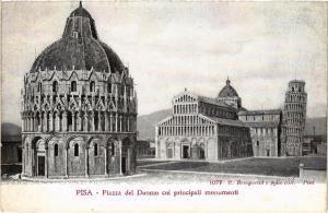 CPA PISA Piazza del Duomo coi principali Monumenti. ITALY (468079)