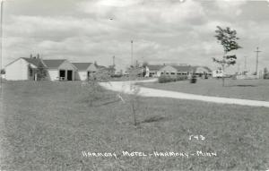 Harmony Minnesota~Harmony Motel~1950s Real Photo Postcard~RPPC