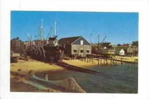 Fishing boats on the Ways, Cape Cod, Massachusetts, 1950s