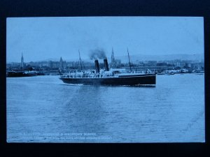 L&NWR Royal Mail Ferry S.S. ULSTER Holyhead & Kingstown Service - Old Postcard