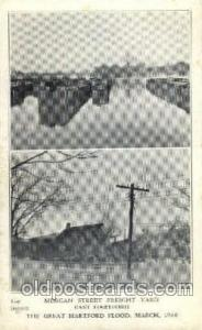 The great Hartford Conn.USA Flood, March, 1937Disaster Disasters, Postcard Po...