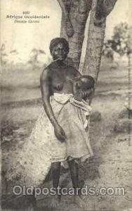 Afrique Occidentale, Femme Cerere African Nude Post Card Post Card  Afrique O...