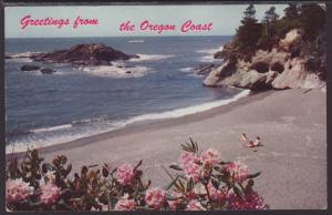 Greetings From Oregon Coast Postcard BIN