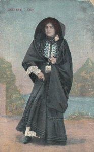 MALTA, 1900-10s; Maltese Lady wearing hooded shawl