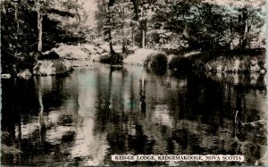 Nova Scotia Ked-ge Lodge Kedgemakooge Postcard Used (33301)