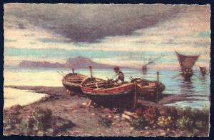Capri from Naples by Carelli unused c1940's