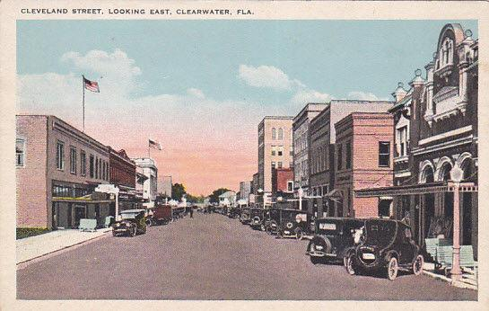 Cleveland Street, Looking East, CLEARWATER, Florida, 10-20s