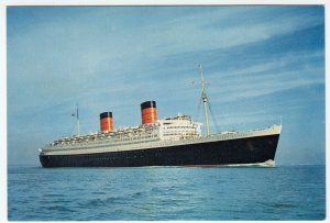 Shipping; Cunard Line RMS Queen Elizabeth PPC, Unposted, By Dixons, c 1960's