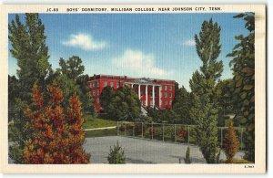 Boy's Dormitory, Milligan College, Johnson City TN - 1940s Linen Postcard