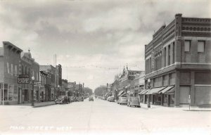 LPS97 Luverne Minnesota Main Street West Town View Postcard RPPC