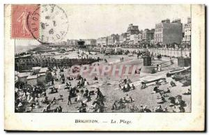 Old Postcard Brighton The Beach