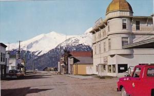 Alaska Skagway Main Street Showing Golden North Hotel