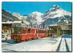 Postcard Modern Engelberg Bahnhof mit Hahnen (2611m)