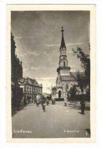 RP Lu&#269 enec (Losonc), Slovakia, 1910-20s Street view toward church