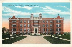 Belleville Illinois~Notre Dame Academy~1938 Postcard