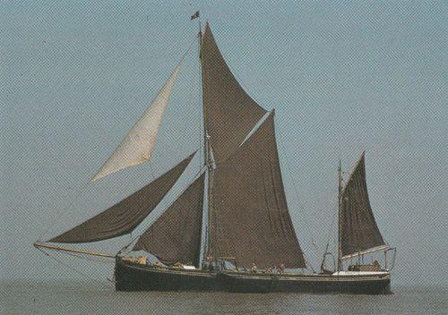 Thalatta Coasting Barge Ship Built Harwich 1906 Essex Postcard