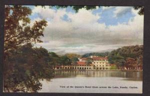 View Queen's Hotel  KANDY CEYLON Sri Lanka Postcard