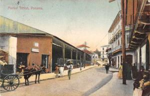 Panama Market Street Scene Antique Postcard J72294