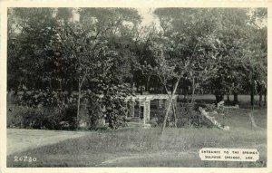 Arkansas 1940s Entrance Springs Sulphur Postcard #20230 Dora's 9266