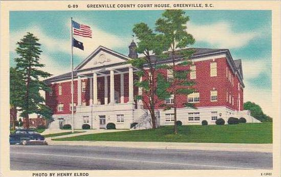 South Carolina Greenville Greenville County Court House