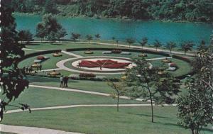 Maple Leaf Floral Garden, Grendier Pond in High Park, Toronto, Ontario, Canad...