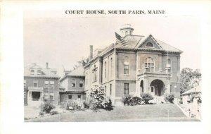 LPSS02 South Paris Maine Oxford County Court House Postcard RPPC