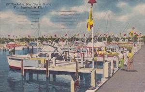 Florida Fort Lauderdale Bahia Mar Yacht Basin 1954