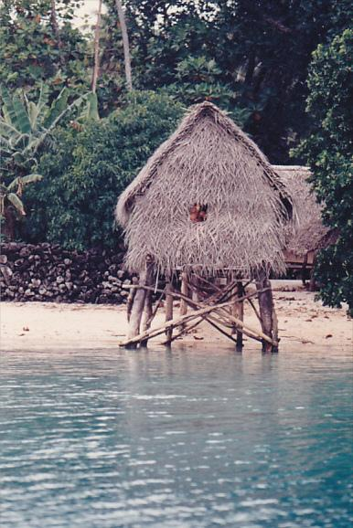 Micronesia Phonpei Native Fisherman's Hut