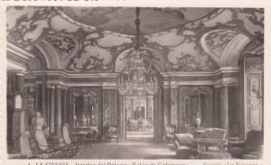 RP: Interior View del Palacio, Salon de Columnas, La Granja, Segovia, Spain