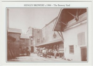 Oxfordshire; Henley Brewery, c 1900, The Brewery Yard Repro PPC Unused