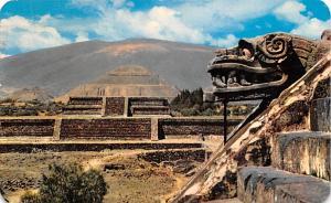 Mexico Postcard Tarjeta Postal Zona Arqueologica de San Juan Teotihuacan