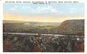 Delaware River Port Jervis, New York Postcard
