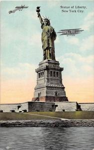 12383  Airplanes circling  Statue of Liberty   1912