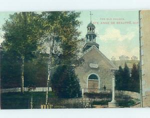 Unused Divided-Back CHURCH SCENE Quebec City QC A8574