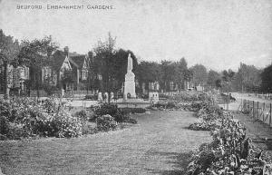 Bedford Embankment Gardens Monument Statue Esplanade