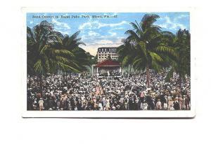 Large Crowd, Band Concert, Royal Palm Park, Miami, Florida, EC Kropp