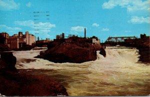 Washington Spokane Upper Falls Spokane River 1957