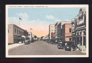 CLEARWATER FLORIDA DOWNTOWN CLEVELAND STREET SCENE VINTAGE