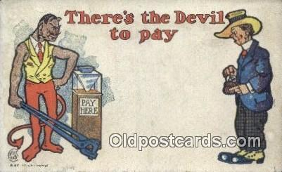 Krampus There's the Devil to Pay Postcard Post Card, Carte Postale, Cartolina...