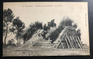 Mint Saumur France Postcard RPPC Army Cavalry School Stop Bar