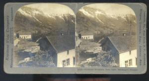 REAL PHOTO HARDANGER NORWAY NORGE TOHLHEIMS MT ODDE STEREOVIEW CARD
