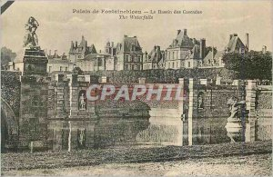 Postcard Old Palace of Fontainebleau The Cascade Ponds