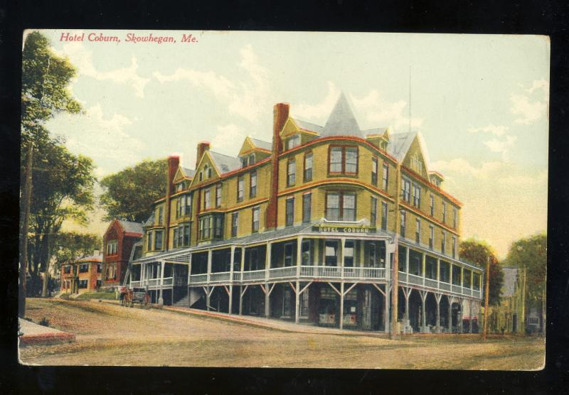 Skowhegan Maine Me Postcard Hotel Coburn 1911