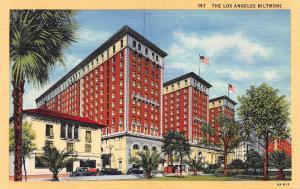 Los Angeles Biltmore Hotel, Los Angeles, California, Early Postcard, Unused